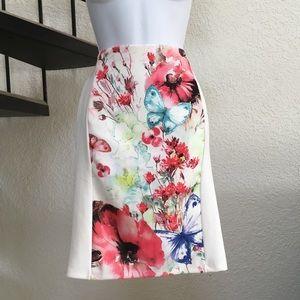 5/$25 BUNDLE Colorful Floral F21 Pencil Skirt M